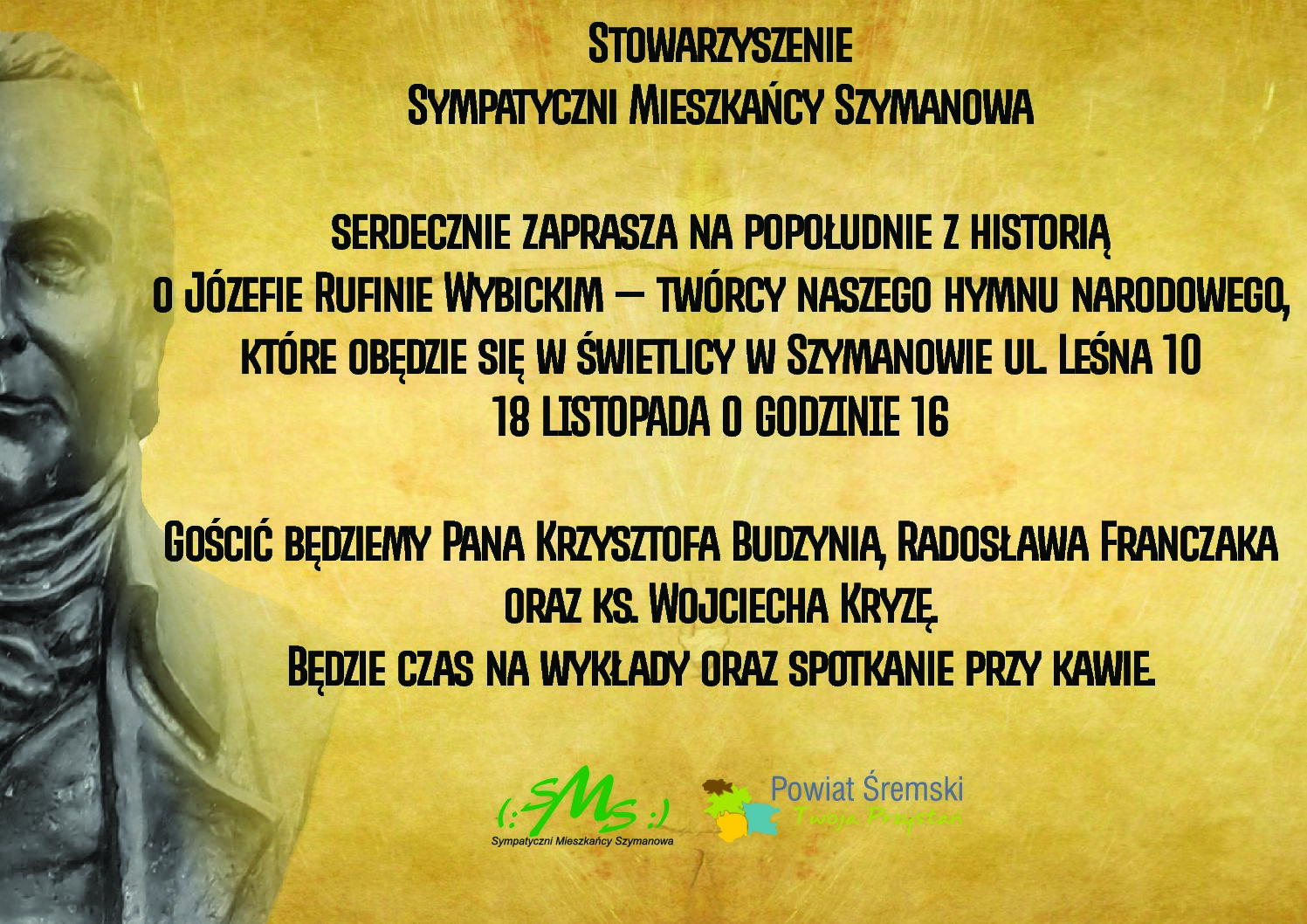 Zaproszenie na spotkanie historyczne o Józefie Wybickim